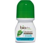 BioPha Středomořská skaliska Calanques kuličkový antiperspirant deodorant bez alkoholu, soli, hliníku pro citlivou pokožku v bio kvalitě roll-on pro ženy 50 ml
