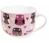 Albi Original Mug Owls, 500 ml porcelain