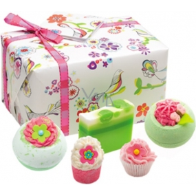 Bomb Cosmetics Three little birds ballistics 2 x 160 g + block 50 g + cupcake 30 g + soap 100 g, cosmetic set
