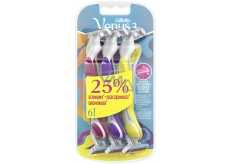 Gillette Simply Venus 3 ready-to-use razor with lubricant belt for women 3 colors 6 pieces
