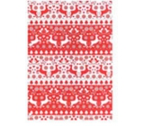 Ditipo Gift wrapping paper 70 x 500 cm Christmas red-white