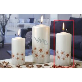 Lima Starlight candle white / copper 60 x 120 mm 1 piece