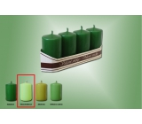 Lima Candle light green cylinder 40 x 70 mm 4 pieces