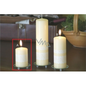 Lima Lace candle creme cylinder 60 x 90 mm 1 piece