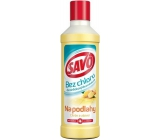 Savo Lemon and ginger without chlorine liquid floor cleaner and disinfectant 1 l