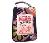 Albi Foldable bag with zipper in the purse with the inscription Teacher 42 x 41 x 11 cm
