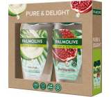 Palmolive Pure & Delight Coconut shower gel 250 ml + Pure & Delight Pomegranate shower gel 250 ml, cosmetic set