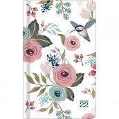 Albi Diary 2022 Pocket Weekly Flowers 15.5 x 9.5 x 1.2 cm