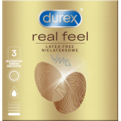 Durex Real Feel non-latex condom for a natural skin-to-skin feel, nominal width: 56 mm 3 pieces