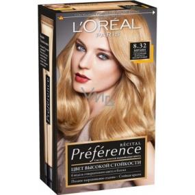 Loreal Paris Préférence Récital hair color 8.32 berlin pink-gold blond
