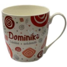 Nekupto Twister mug named Dominika red 0.4 liter