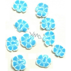Professional Nail decorations flowers blue-white 132 1 pack