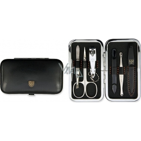 Kellermann 3 Swords Luxury manicure 6 pieces Articial Leather made of high quality artificial leather Black 7845 FN