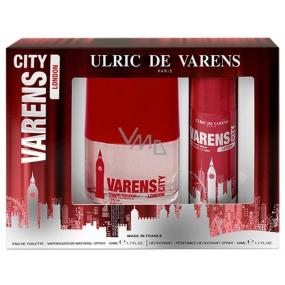 Ulric de Varens City London for Men eau de toilette 50 ml + deodorant spray 50 ml, gift set