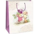 Ditipo Gift Bag Big White Beige 2 Mice 32.4 x 10.2 x 44.5 cm DXA