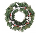 Wreath with stars and berries 25 cm