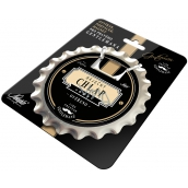 Nekupto League of True Gentlemen Bottle opener, coaster, magnet in one Wonderful guy - verified diameter 10 cm