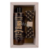 Bohemia Gifts Sailor Beer yeast and hops shower gel 250 ml + wooden bow tie, cosmetic set
