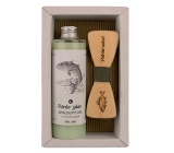 Bohemia Gifts & Cosmetics Fisherman Olive oil shower gel 250 ml + wooden bow tie, cosmetic set
