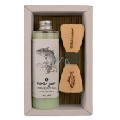 Bohemia Gifts Fisherman Olive oil shower gel 250 ml + wooden bow tie, cosmetic set