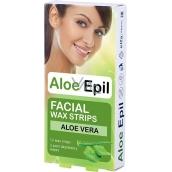 Aloe Epil Facial Depilation Wax Strips For Face 12 + 2 Pieces
