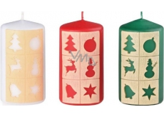 Arome Windows Christmas motif candle cylinder 60 x 110 mm 255 g 1 piece