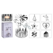 Angel ringing silver for a tea candle 65 x 160 mm