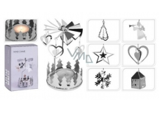 Angel ring silver for tea candle 65 x 160 mm