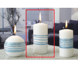 Lima Exclusive candle blue cylinder 60 x 120 mm 1 piece