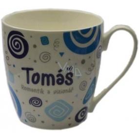 Nekupto Twister mug named Tomas blue 0.4 liters