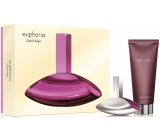 Calvin Klein Euphoria parfémovaná voda pro ženy 50 ml + tělové mléko pro ženy 200 ml, dárková sada