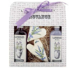 Bohemia Gifts Lavender La Provence creamy shower gel 100 ml + shampoo 100 ml + patchwork 2 pieces, cosmetic set