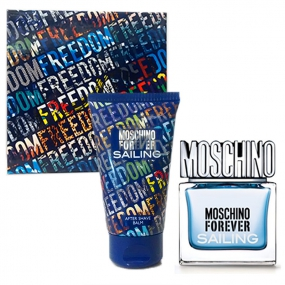 Moschino Forever Sailing eau de toilette for men 30 ml + aftershave 50 ml, gift set