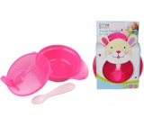 First Steps Travel feeding set Hare bowl + spoon