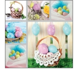 Easter paper napkins basket with eggs 33 x 33 cm 3 ply 20 pieces