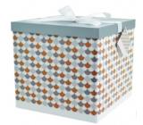 Angel Folding gift box with ribbon Mosaic 22 x 22 x 13 cm