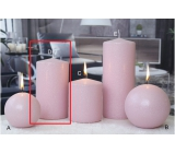 Lima Ice pastel candle pink cylinder 80 x 150 mm