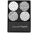 Albi Crystal magnets black and white stripes 4 pieces