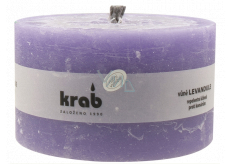 Crab Lavender repellent garden candle rustic, burns 45 hours, 80 x 140 x 140 mm 1,000 g