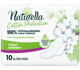 Naturella Cotton Protection Ultra Maxi sanitary pads with wings 10 pieces