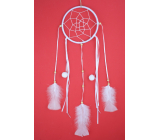 Dream catcher with feathers white 45 cm