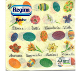 Regina Paper napkins 1 ply 33 x 33 cm 20 pieces Easter yellow, colored eggs and flowers