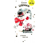 Nekupto Přání k Vánocům Krásné Vánoce sněhulák