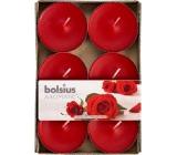 Bolsius Aromatic Maxi Velvet Rose s vůní růže vonné čajové svíčky 6 kusů