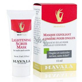 Mavala Lightening Scrub Mask maska na nehty 15 ml