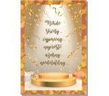 Albi Greeting Cards - Text and confetti on the pedestal