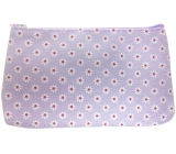 Etue Square fabric purple with white flowers 20 x 11.5 x 1.5 cm 70160