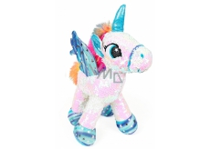 Albi Unicorn plush with sequins White 33 cm