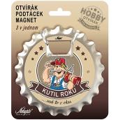 Nekupto Hobby 3in1 opener, coaster, magnet Handyman 10 cm