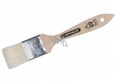 Spokar Flat masquerade, wooden handle, bleached bristle, 21 x 3.5 cm.